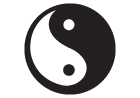 Yin Yang Peace Sticker