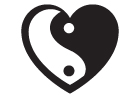 Yin Yang Heart Peace Sticker